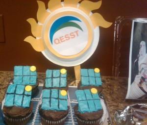 Solar panel cupcakes