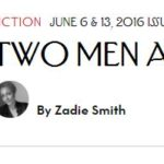 Screenshot of Zadie Smith story in the New Yorker.com