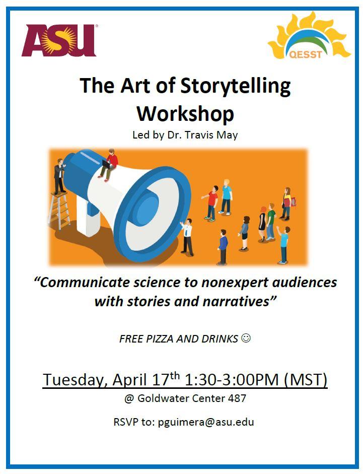 Flyer for the Art of Storytelling Workshop